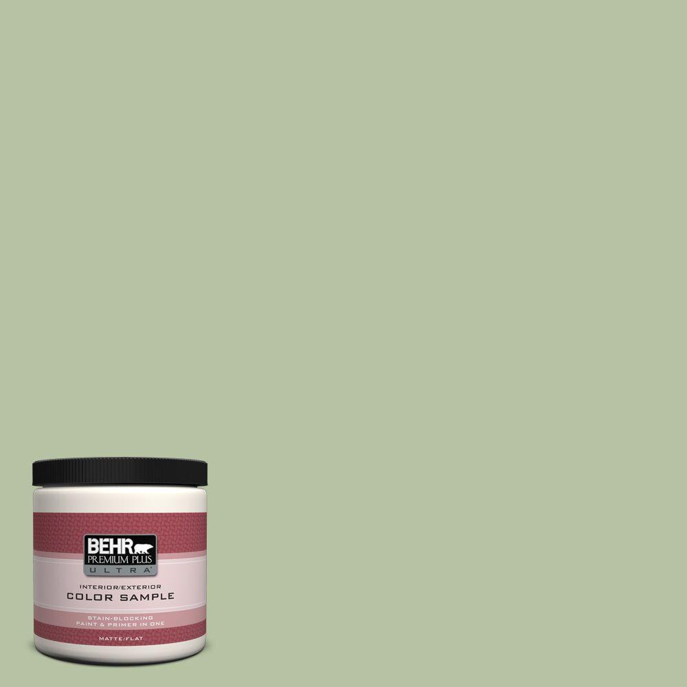 8 oz. #M380-4 Chopped Dill Interior/Exterior Paint Sample