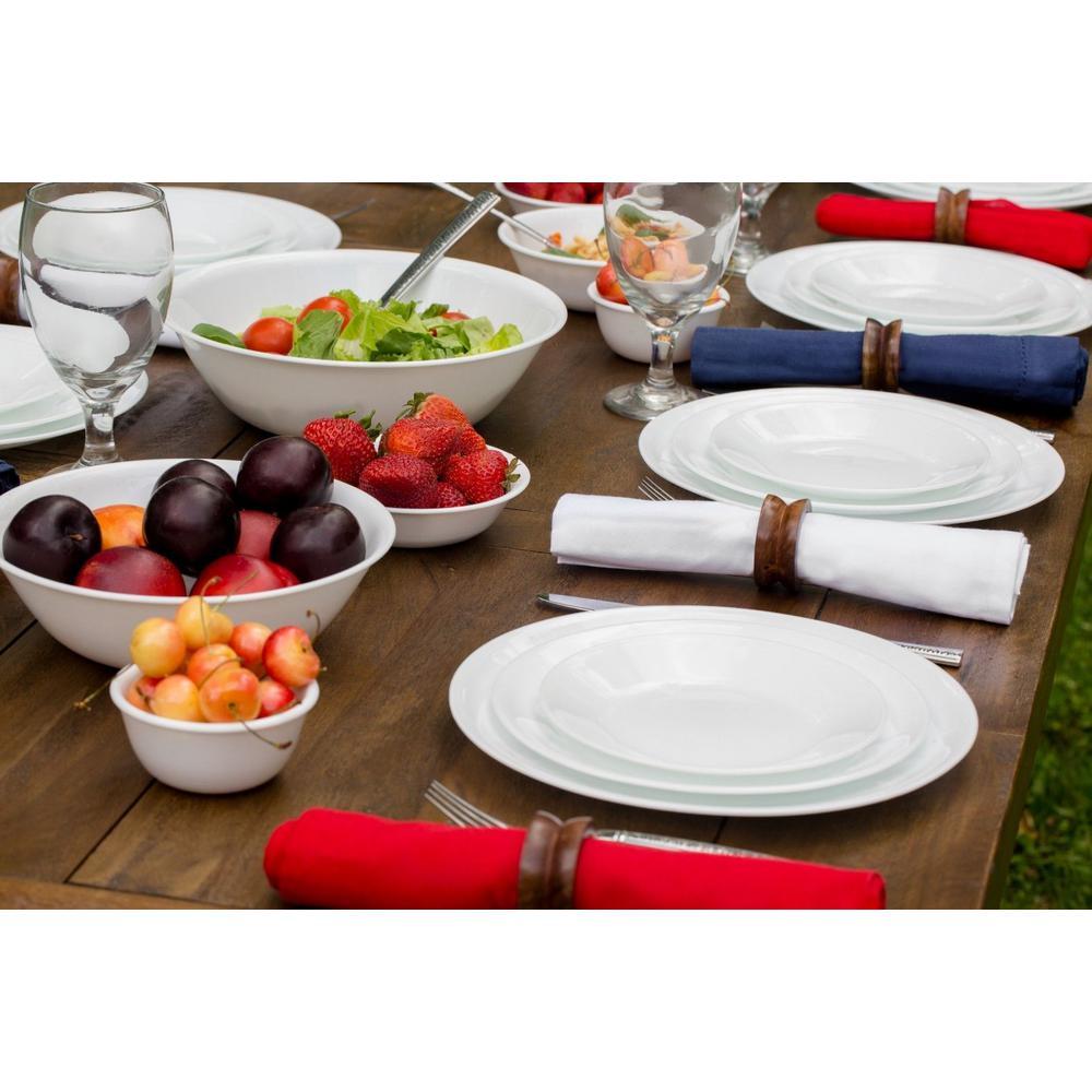Corelle Classic 16-Piece Winter Frost White Dinnerware Set