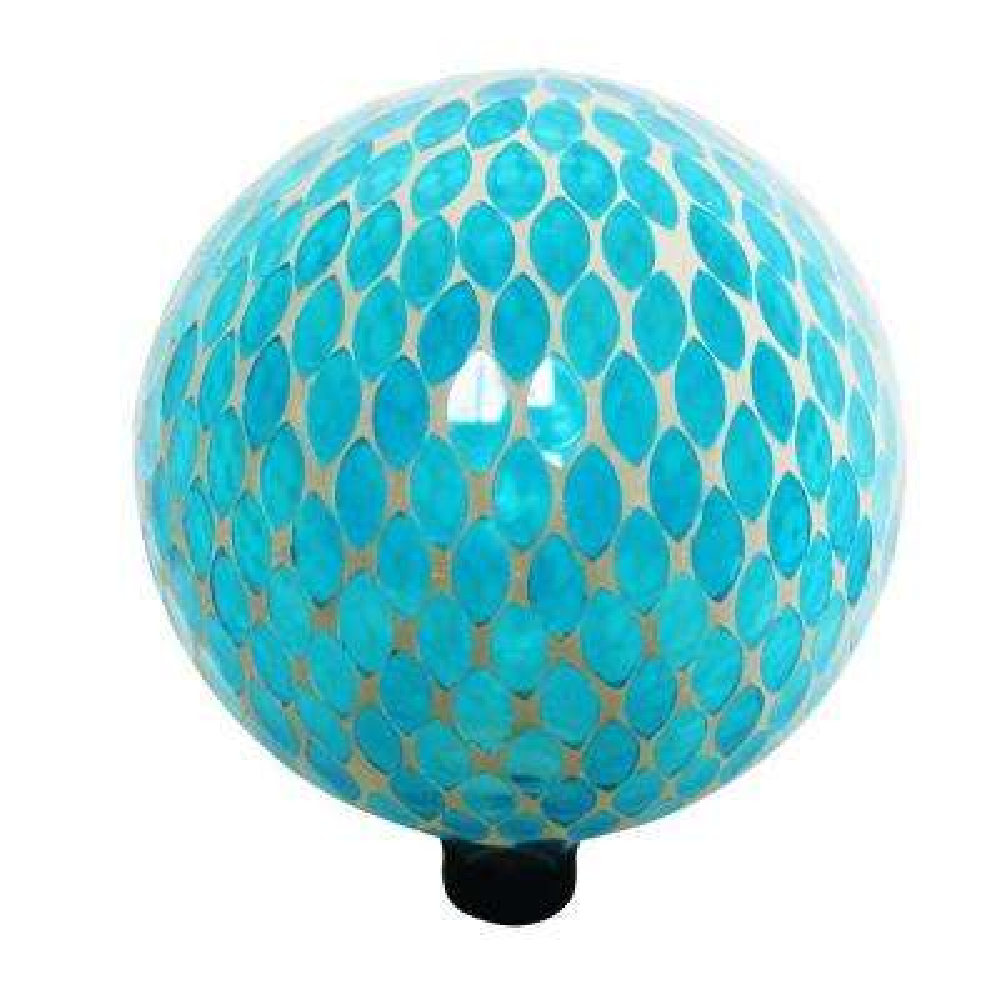 10 in. Blue Mosaic Gazing Globe