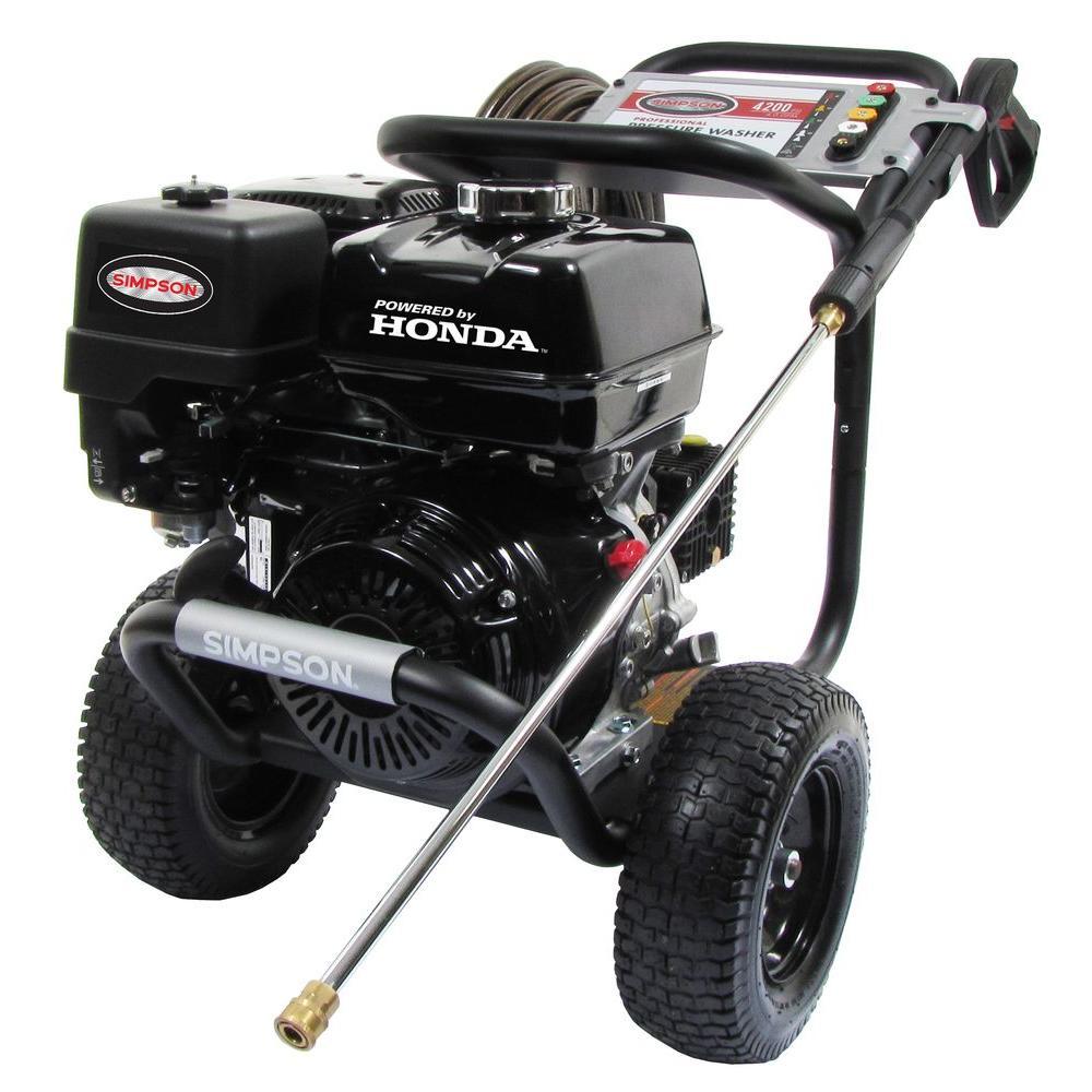 Simpson powershot 4200 psi 4 0 gpm gas pressure washer powered by honda