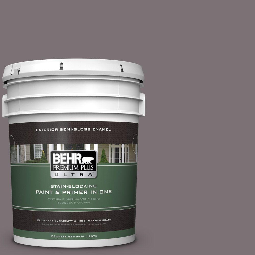 BEHR Premium Plus Ultra 5-gal. #PPU17-18 Echo Semi-Gloss Enamel Exterior Paint