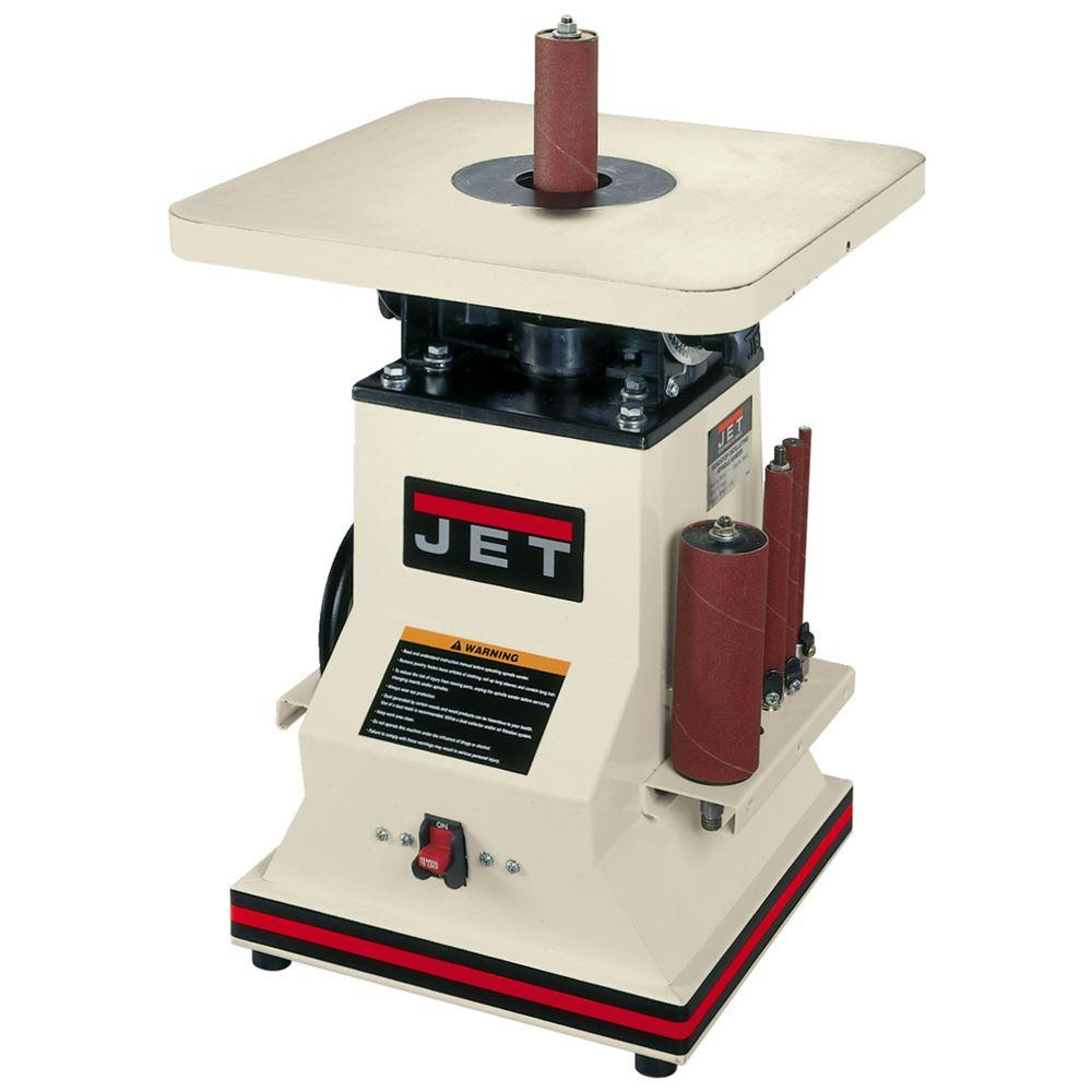 1/2 HP 5.5 in. Benchtop Oscillating Spindle Sander with Spindle Assortment,