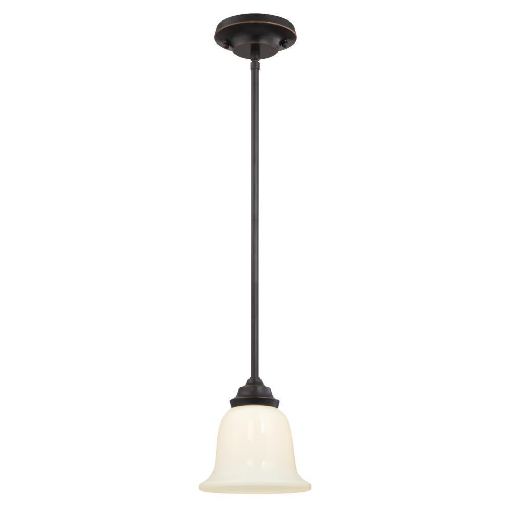 Westinghouse Harwell 1 Light Amber Bronze Mini Pendant 6304700 The Home Depot
