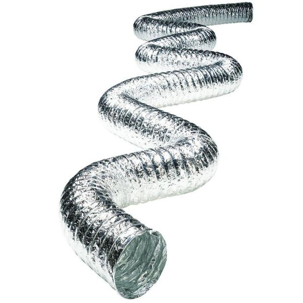 8 in. x 25 ft. Non-Insulated Flexible Aluminum Duct with Scrim