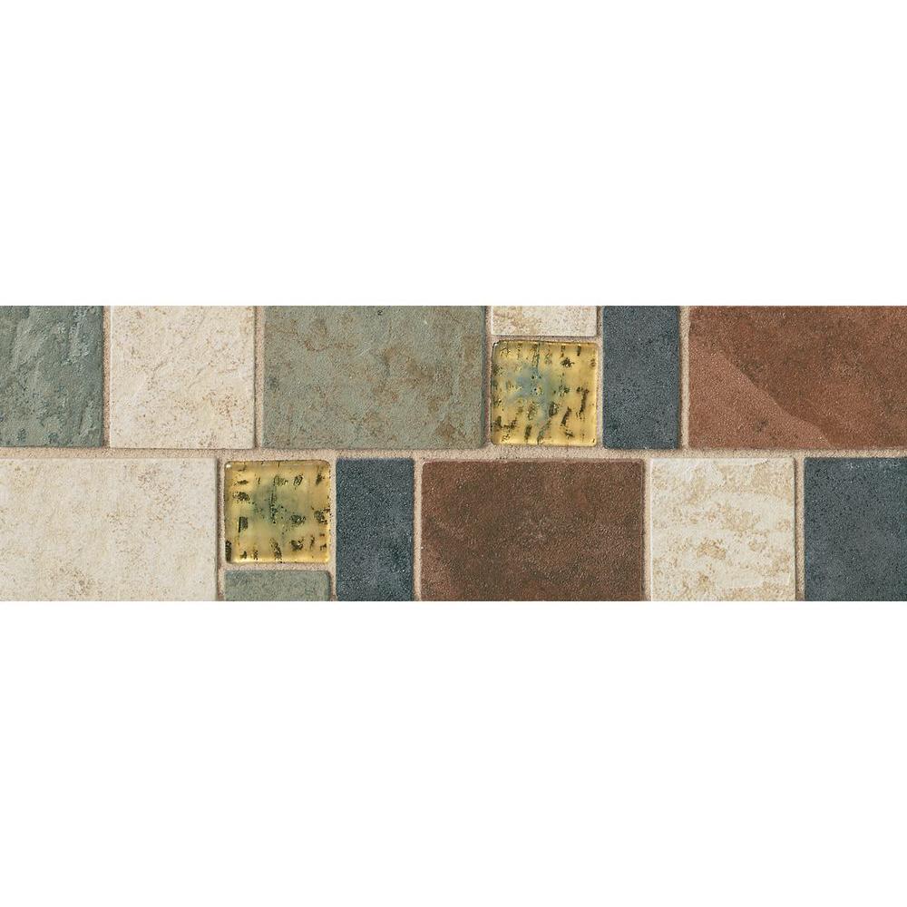 Accent floor tile