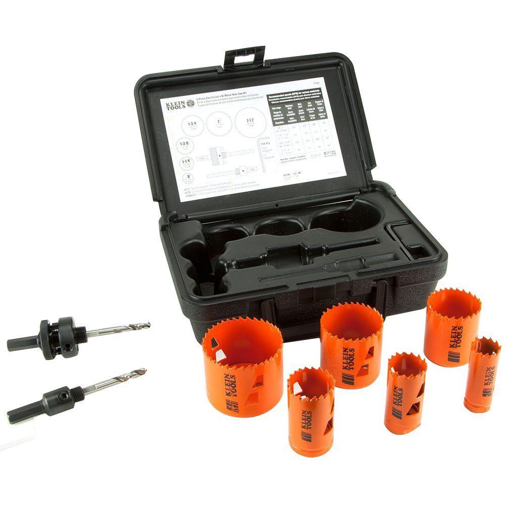 Klein Tools Bi-Metal Hole Saw Kit (8-Piece) by Klein Tools