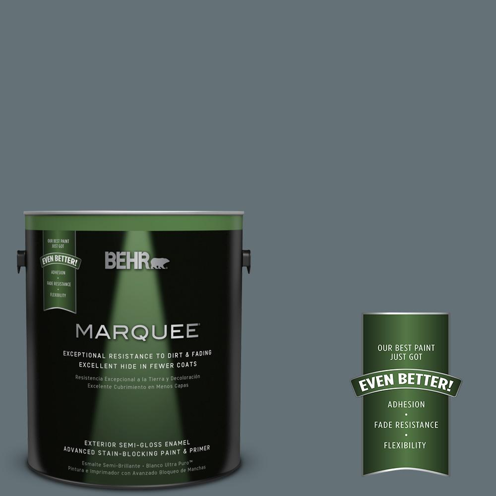 BEHR MARQUEE 1-gal. #740F-5 Myth Semi-Gloss Enamel Exterior Paint