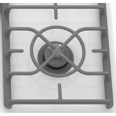 Architect Series II 30 in. Gas-on-Glass Gas Cooktop in White with 4 Burners including 17000 BTU Professional Burner