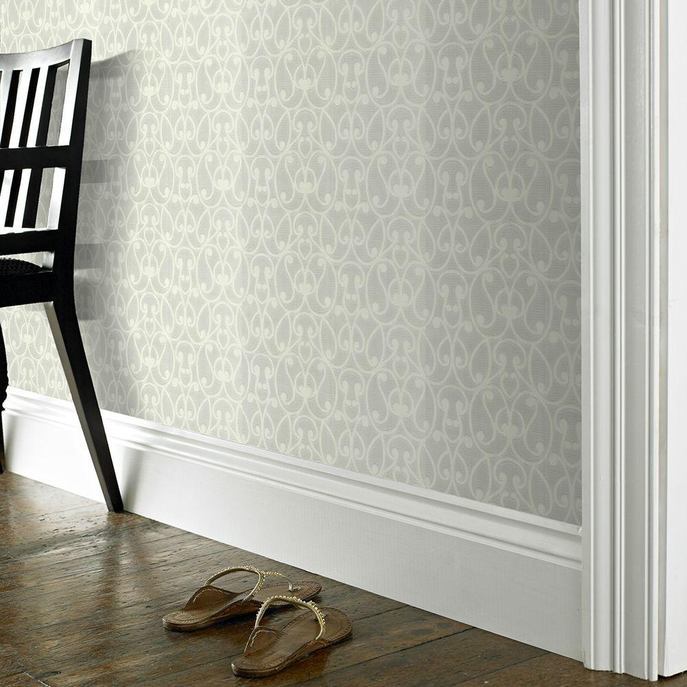 High Quality Graham And Brown Jude Paintable White Removable Wallpaper Sample