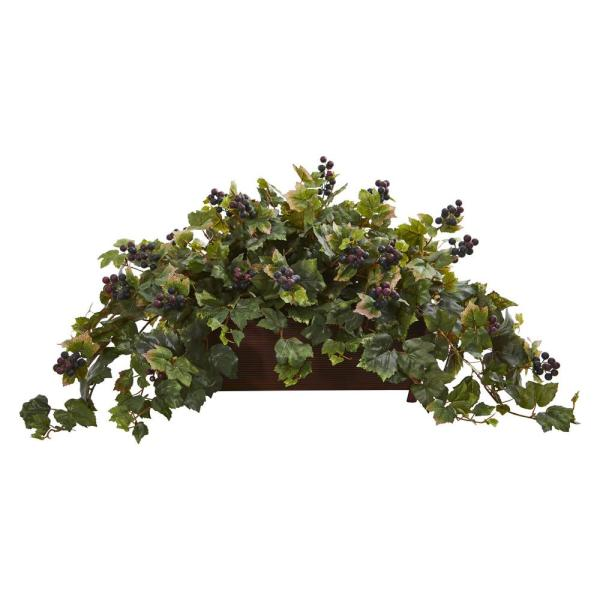 Nearly Natural Indoor Grape Leaf Artificial Plant in Decorative Planter 8220
