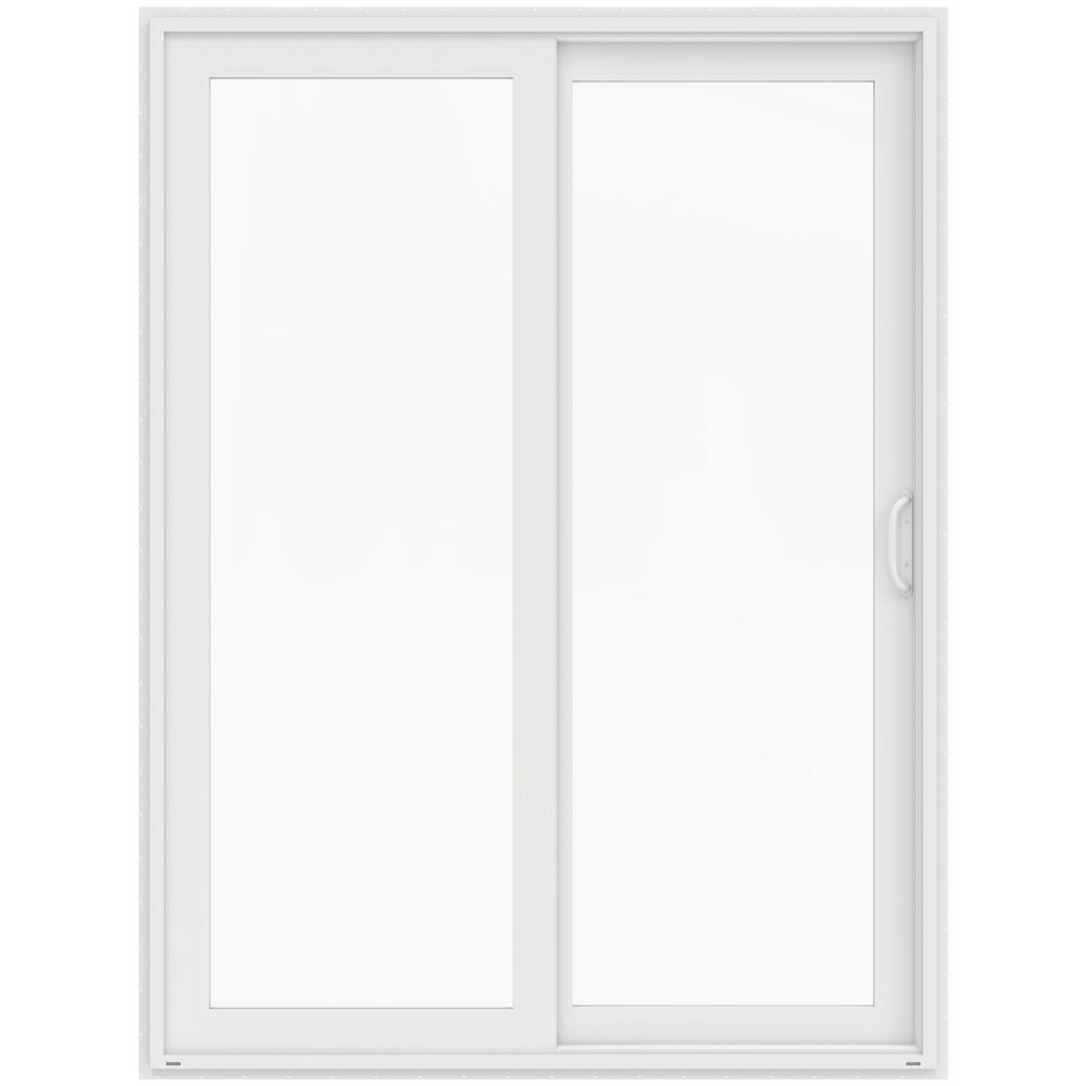 Jeld wen 72 in x 96 in v 4500 white prehung right hand for White sliding french doors