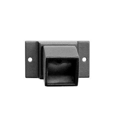 0.055 in. x 1 in. x 1 in. Black Aluminum Fence Adjustable Wall Flange