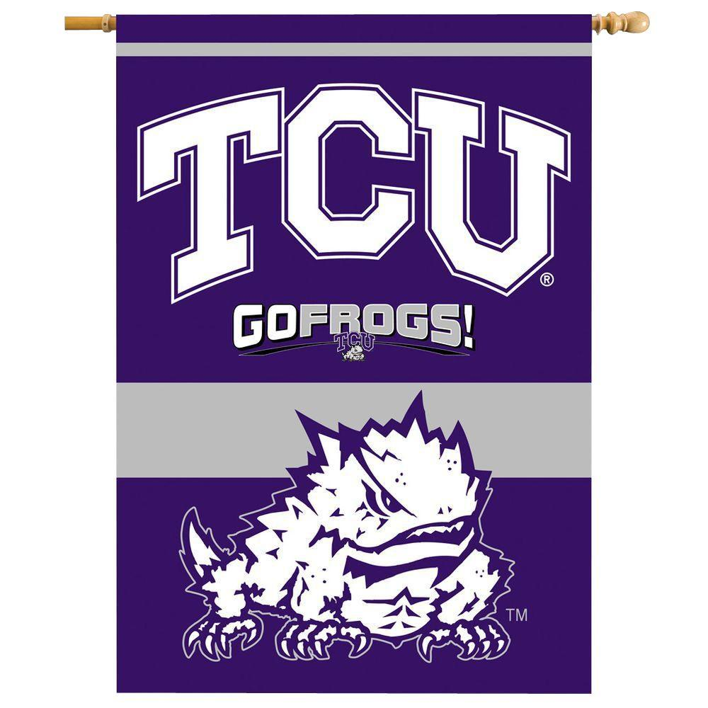 NCAA 28 in. x 40 in. Texas Christian 2-Sided Banner with