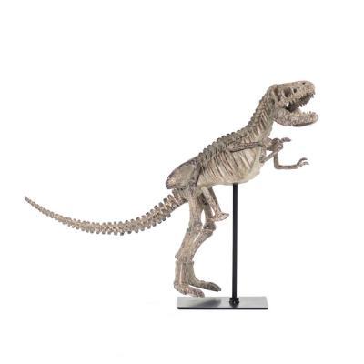 Polyresin Cast Distressed Brown/ Grey Tyrannosaurus Rex Skeleton w/Base