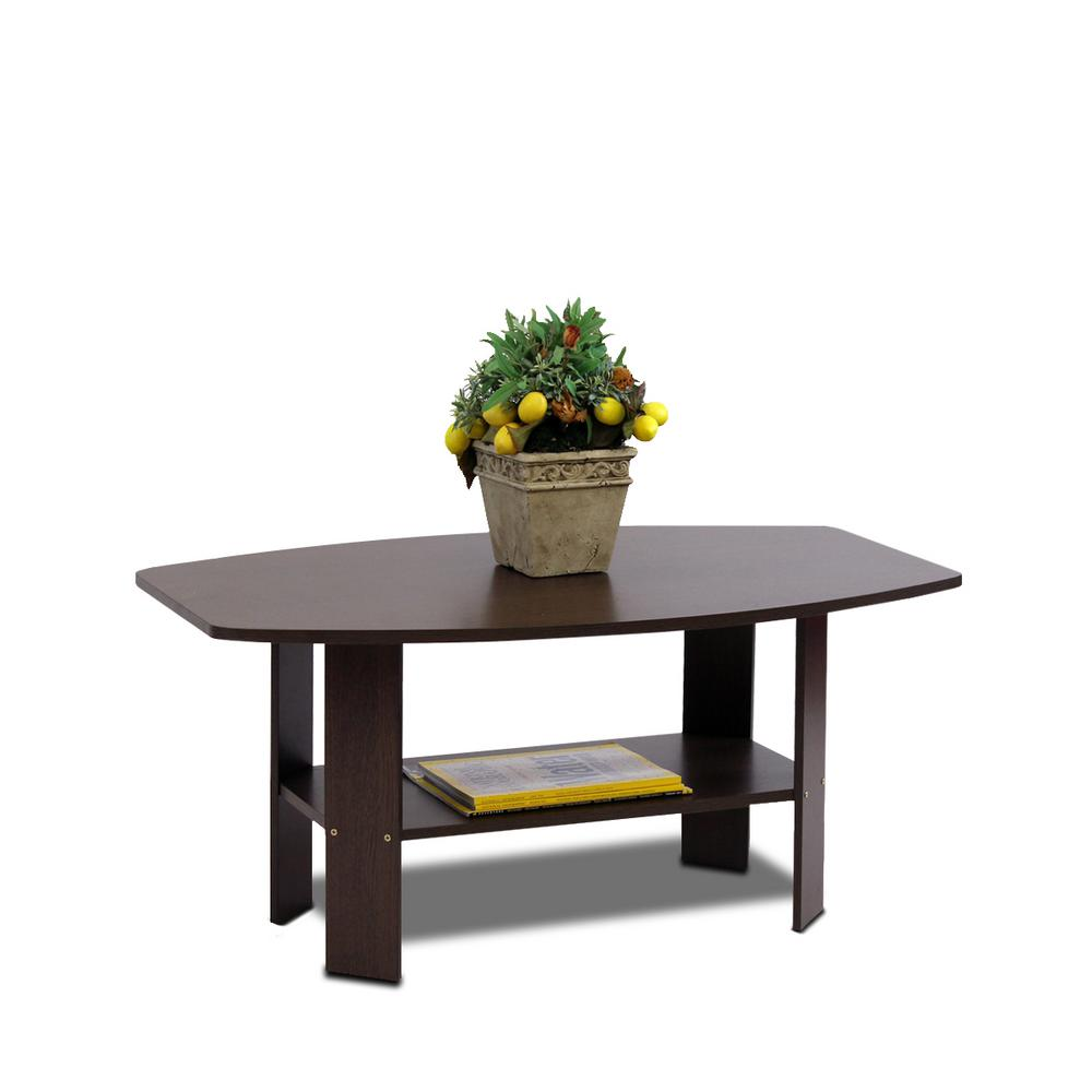 Llytech Inc Simple Design Dark Brown Coffee Table 11179dbr The Home Depot