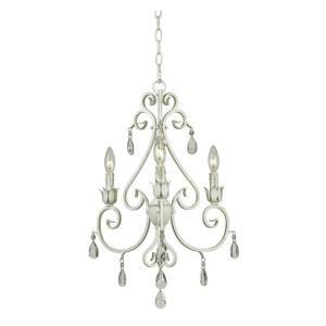 Kenroy Home Chamberlain 19 inch 3-Light Weathered White Chandelier by Kenroy Home