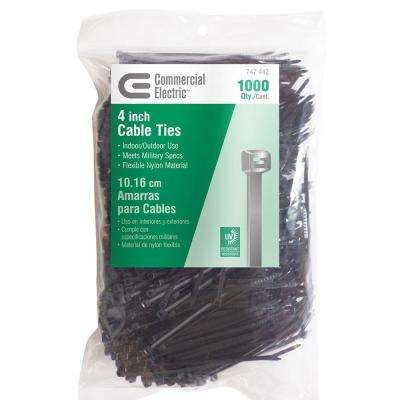 4 in. UV Cable Tie - Black (1000-Pack)