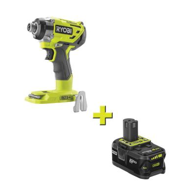 18-Volt ONE+ Cordless Brushless 3-Speed 1/4 in. Hex Impact Driver with 4.0 Ah Lithium-Ion Battery
