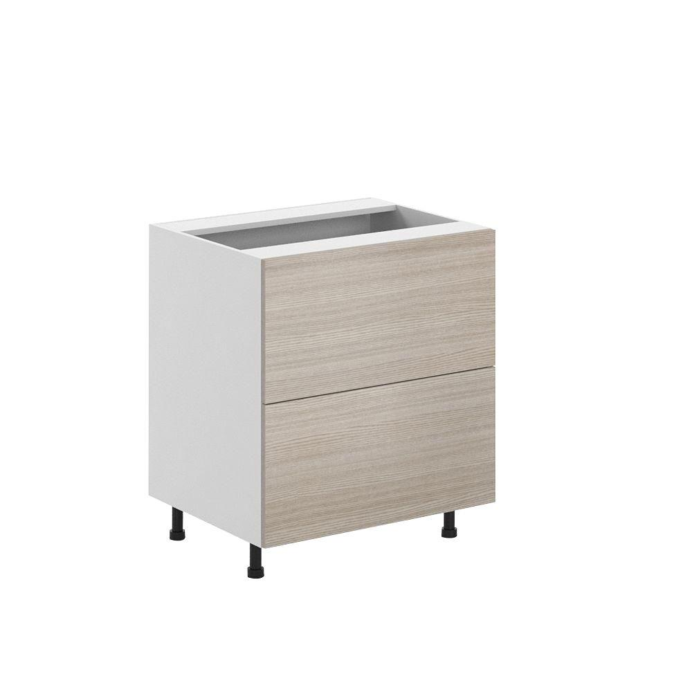 Ready to Assemble 30x34.5x24.5 in. Geneva 2-Deep Drawer Base Cabinet in