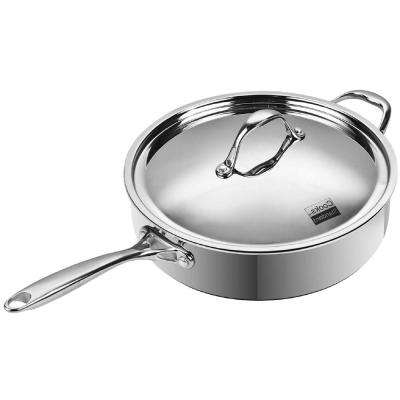 5 Qt. Multi-Ply Clad Stainless Steel Saute Pan with Lid