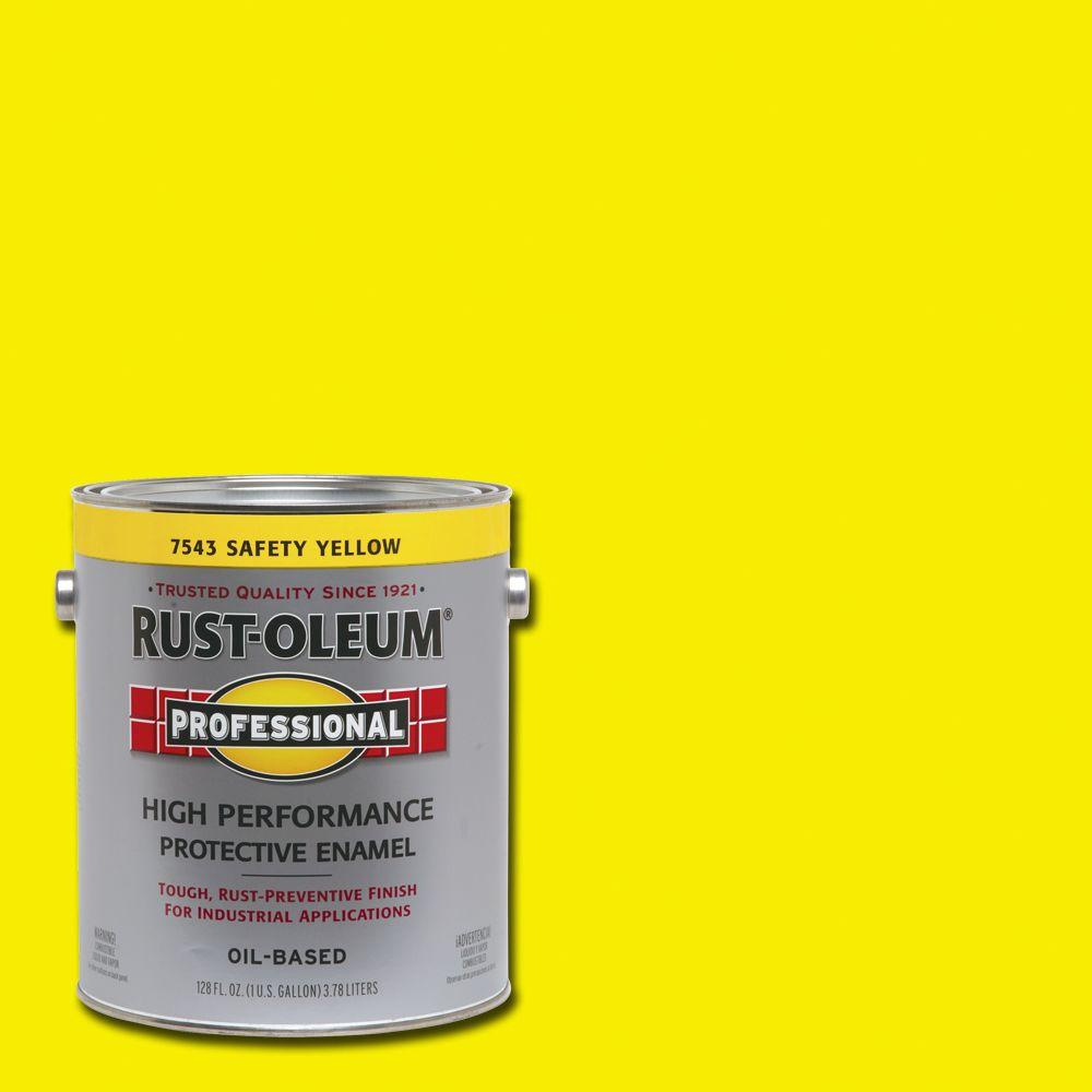 What Is The Difference Between Interior And Exterior Paint: Rust-Oleum Professional 1-gal. Safety Yellow Gloss