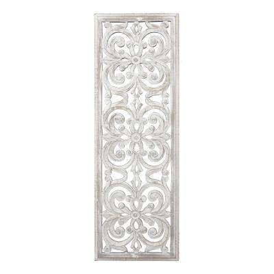 Jevan Whitewash Medallion Wood Panel