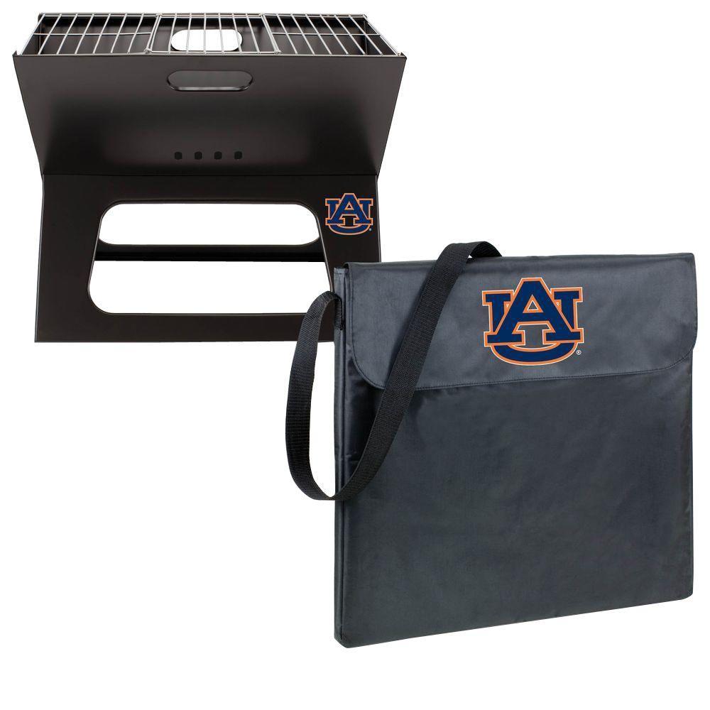 Picnic Time X-Grill Auburn Folding Portable Charcoal Grill