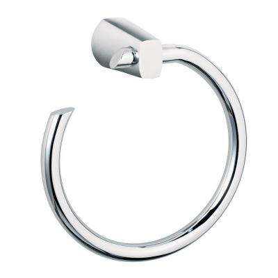 Green Tea Towel Ring in Polished Chrome