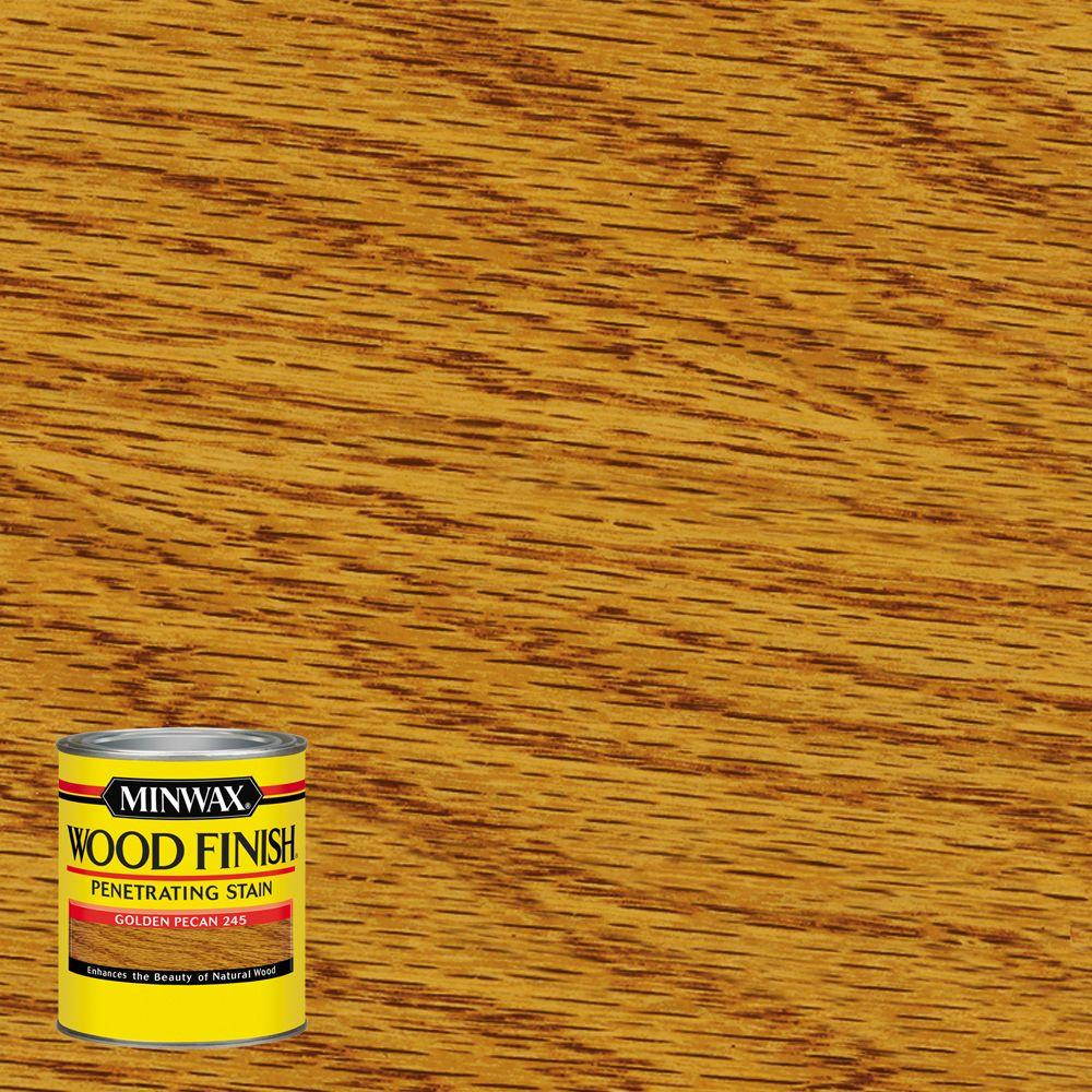 Minwax 8 oz wood finish golden pecan oil based interior - Interior wood stain colors home depot ...