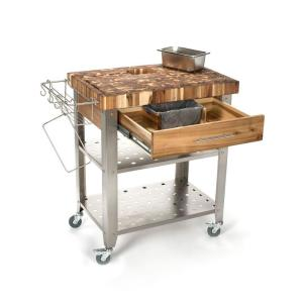 Internet #206763066. Chris U0026 Chris Pro Stadium Stainless Steel Kitchen Cart  ...