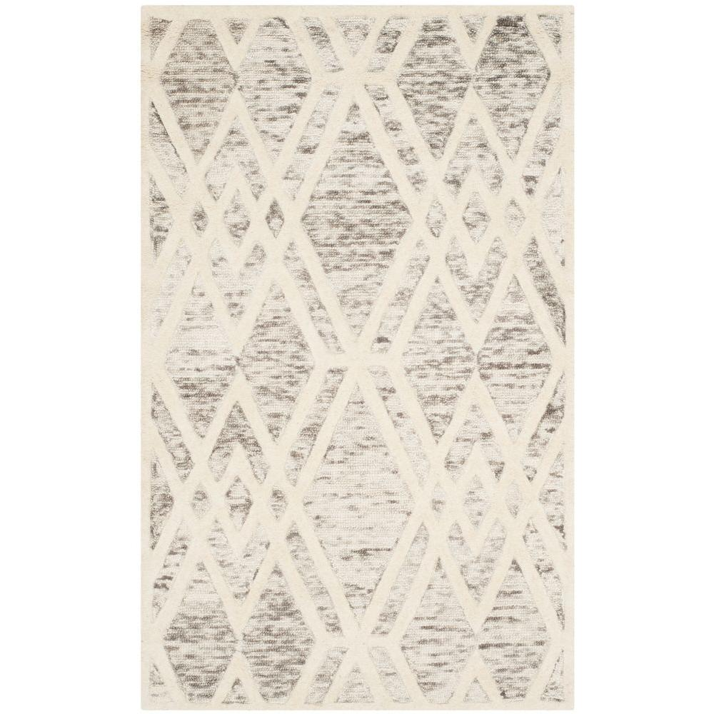 Cambridge Light Brown/Ivory 3 ft. x 5 ft. Area Rug