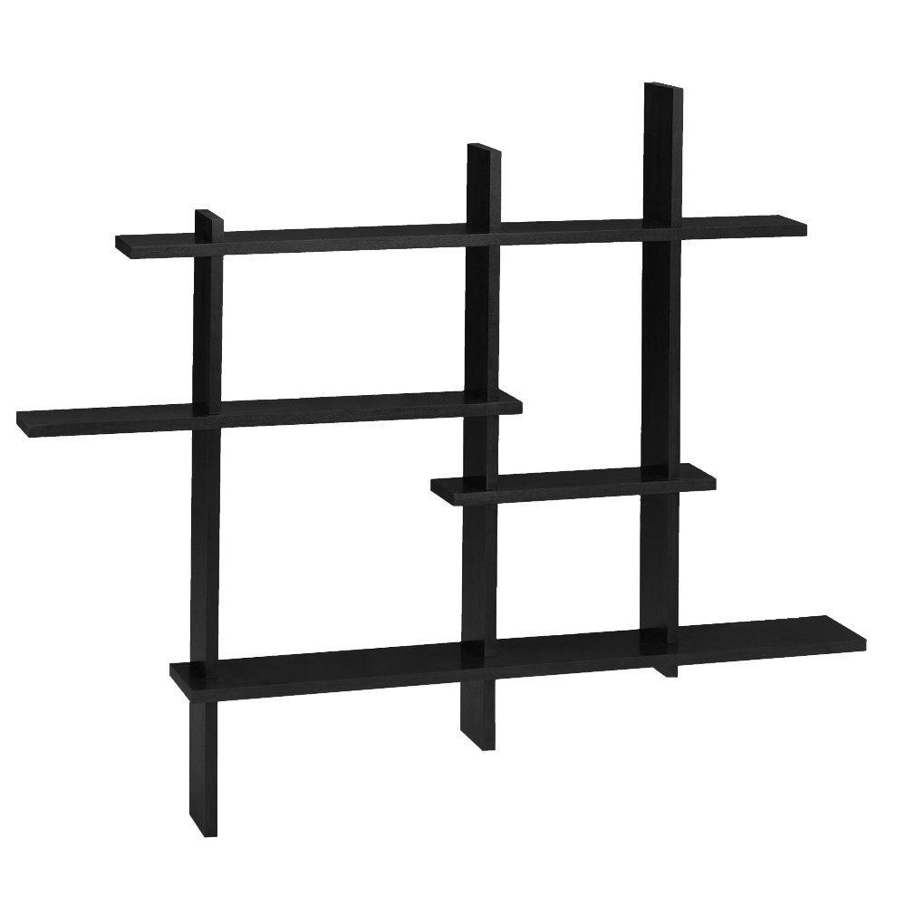 Home Decorators Collection 41 in. x 48.5 in. Black Deluxe Standard Display Shelf