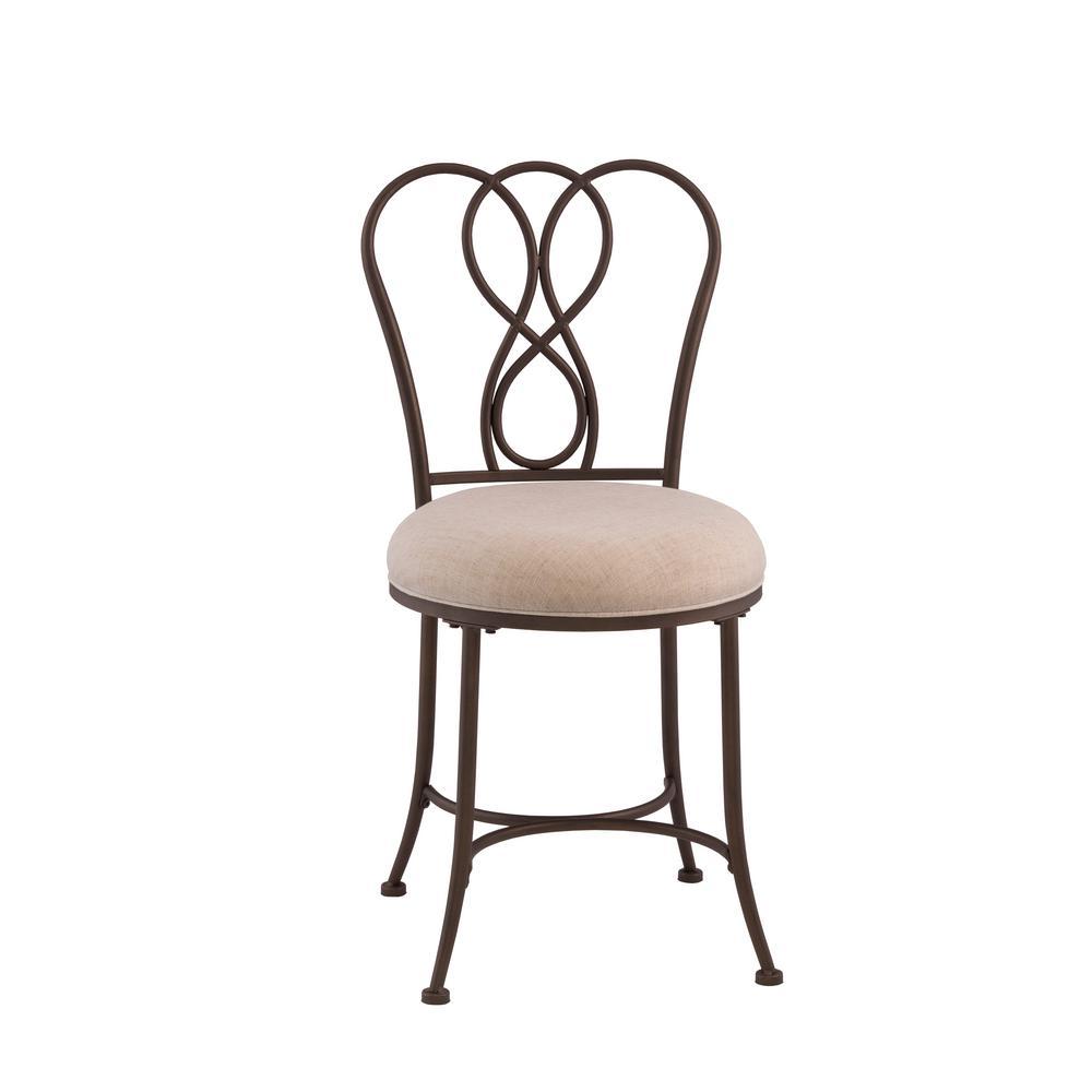 Hillsdale Furniture Christina Bronze Vanity Stool 50994