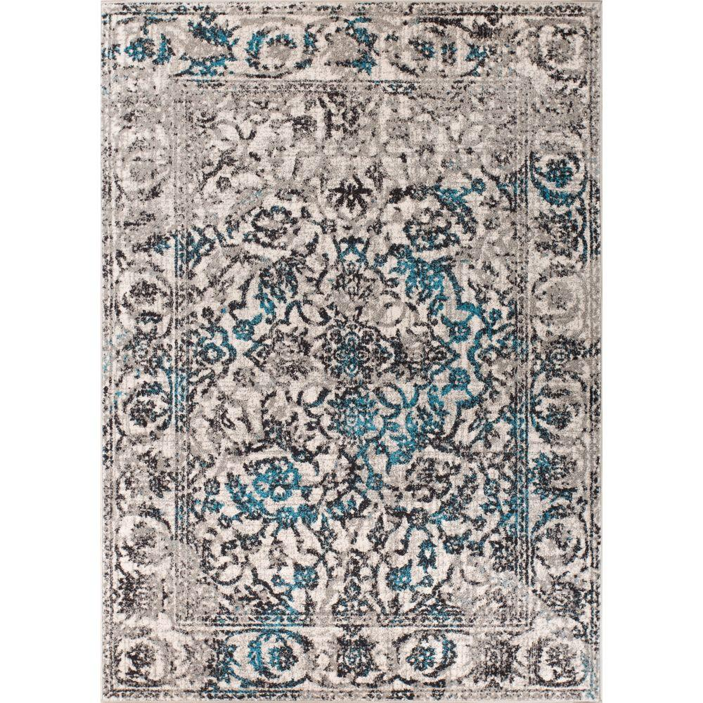 Well Woven Sydney Vintage Sheffield Blue 2 Ft. X 4 Ft
