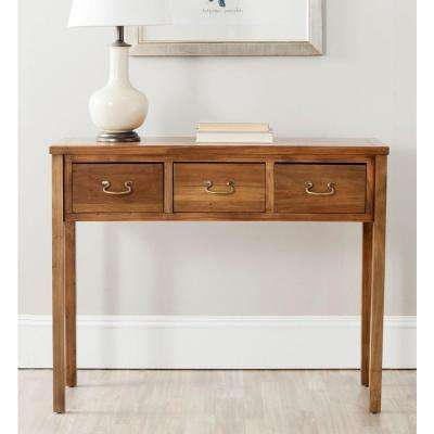 Cindy Oak Storage Console Table