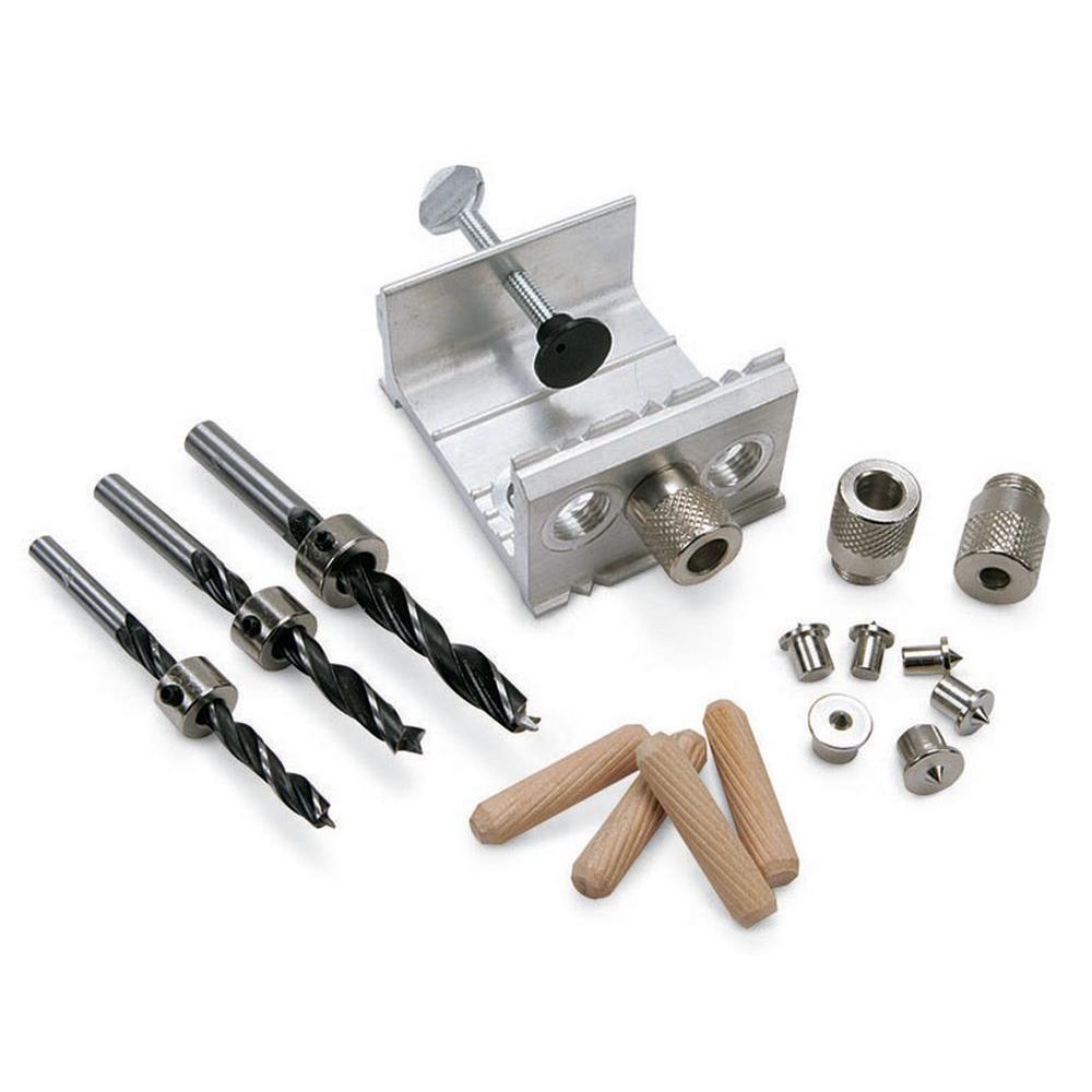 General Tools Aluminum EZ Dowel Joining Jig Kit-841 - The Home Depot