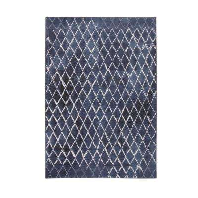 Essentials Xena Blue/Ivory 5 ft. 3 in. x 7 ft. 6 in. Area Rug