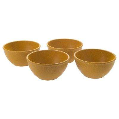EVO Sustainable Goods 10 oz. Yellow Eco-Friendly Wood-Plastic Composite Bowls (Set of 4)