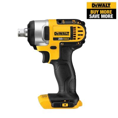 20-Volt MAX Lithium-Ion Cordless 1/2 in. Impact Wrench Kit with Detent Pin (Tool-Only)