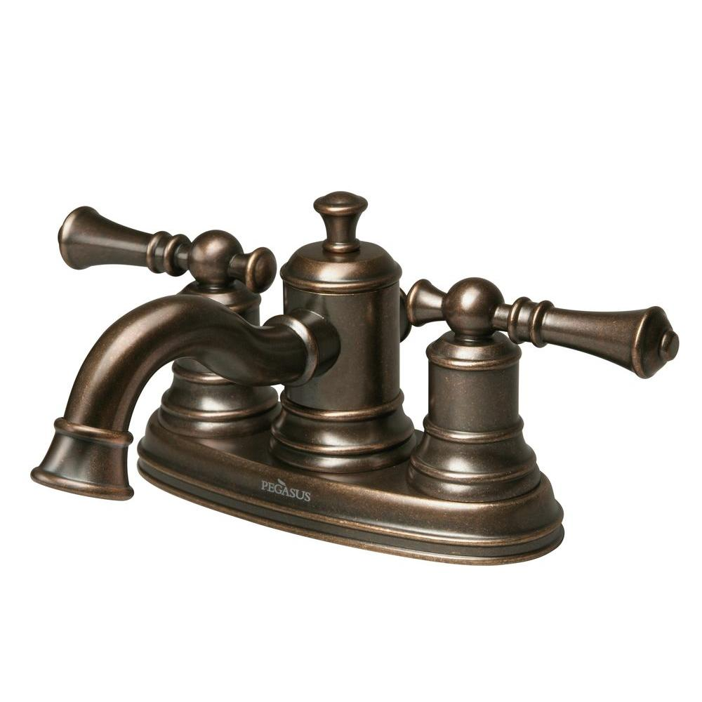 null Estates 4 in. 2-Handle Bathroom Faucet in Heritage Bronze-DISCONTINUED
