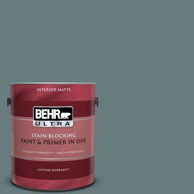 1 gal. #N440-5 Coney Island Matte Interior Paint and Primer in One