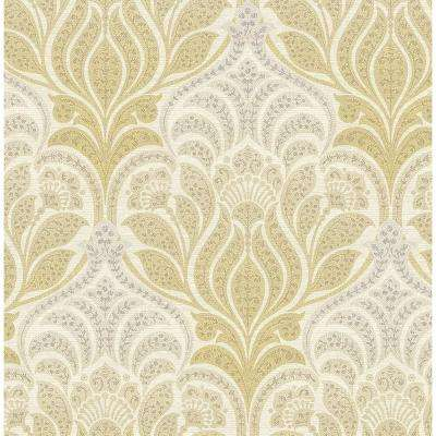 Roll Kenneth James Yellow Wallpaper Home Decor The Home Depot