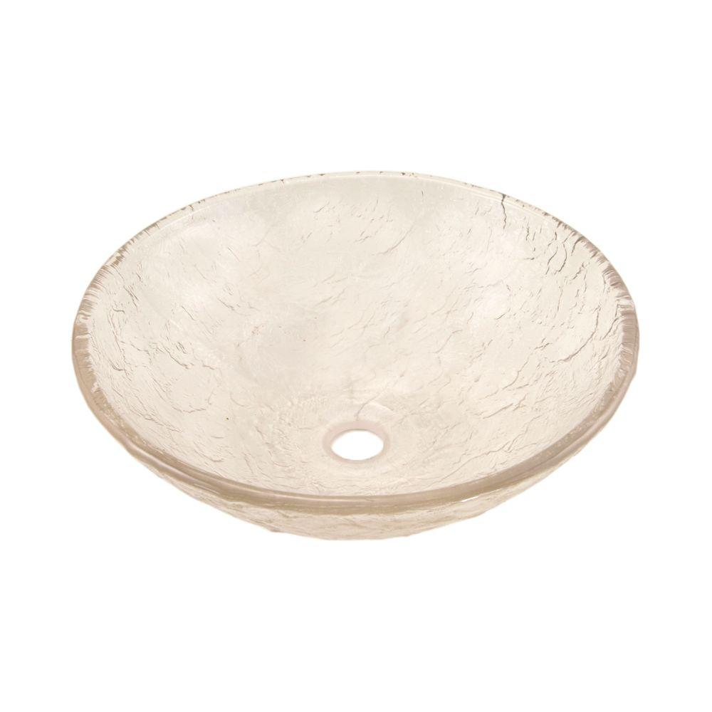 JSG Oceana 15 In. Vessel Sink In Crystal