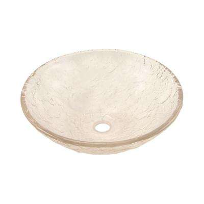15 in. Vessel Sink in Crystal