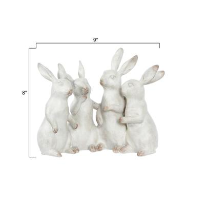Bunny Rabbit Quartet Polyresin Figurine