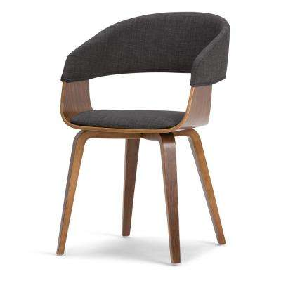 Lowell Bentwood Dining Chair in Charcoal Grey Linen Look Fabric