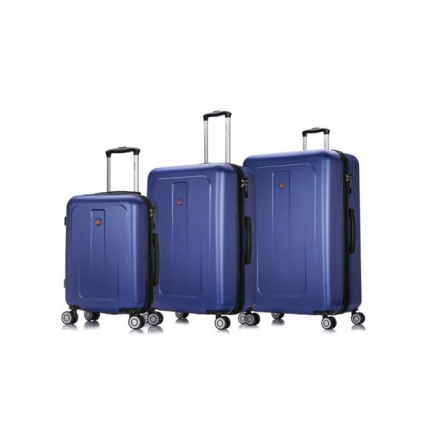 DUKAP Crypto 20 in./28 in./32 in. Blue Lightweight Hardside Set (3-Piece)
