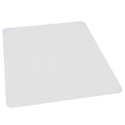 Professional Clear 46 in. x 60 in. Carpet Vinyl Chair Mat