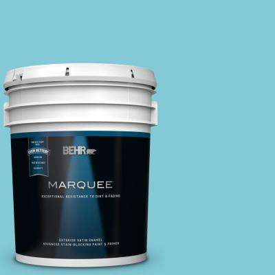 5 gal. #MQ4-50 Not a Cloud in Sight Satin Enamel Exterior Paint and Primer in One