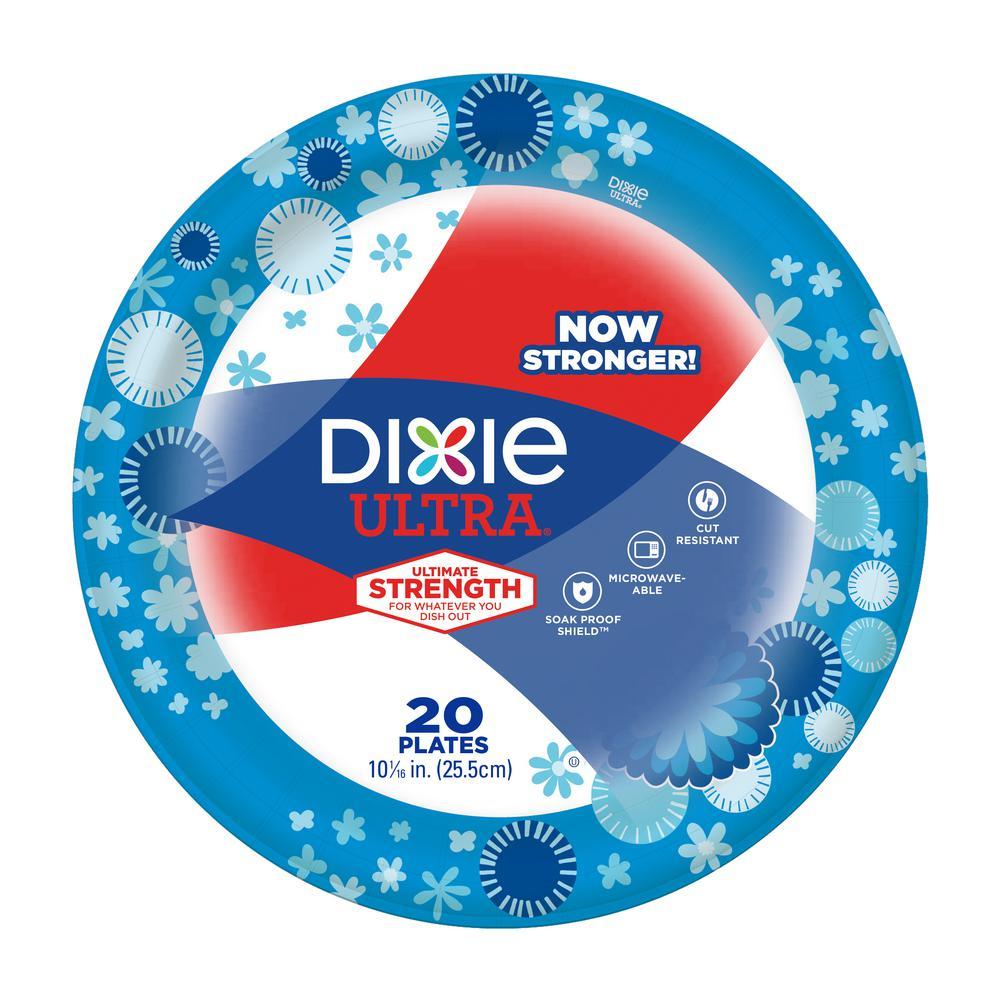 Dixie Multicolor Paper Plate (20-Pack)  sc 1 st  Home Depot & Dixie Multicolor Paper Plate (20-Pack)-15803 - The Home Depot